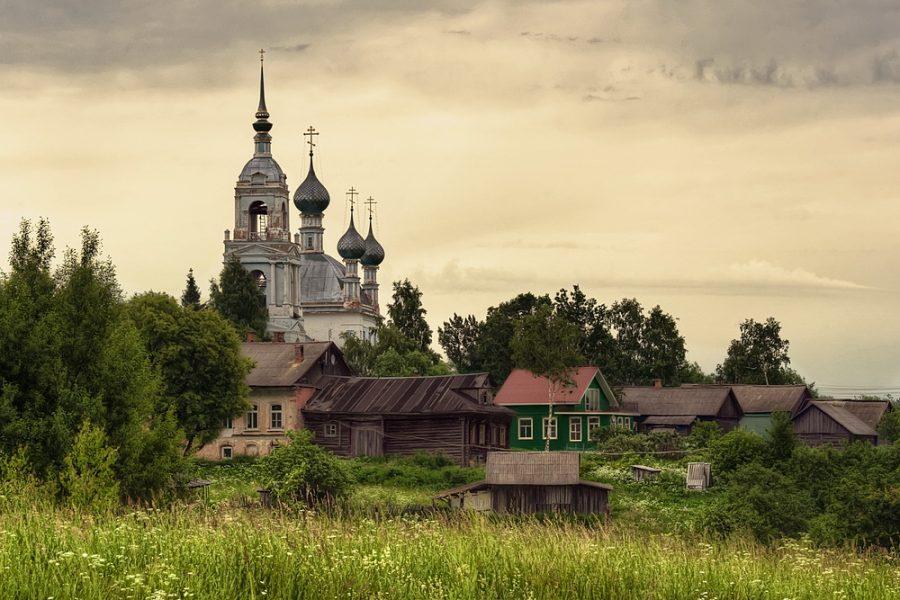 деревня церковь