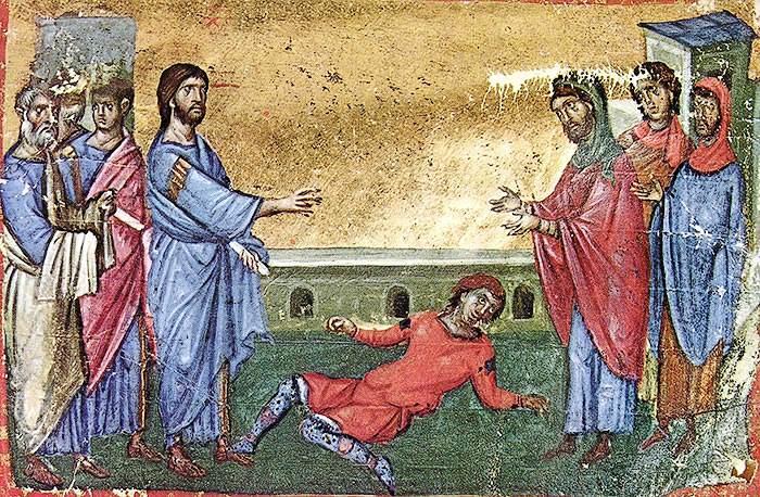 Апостолы и бесноватый юноша
