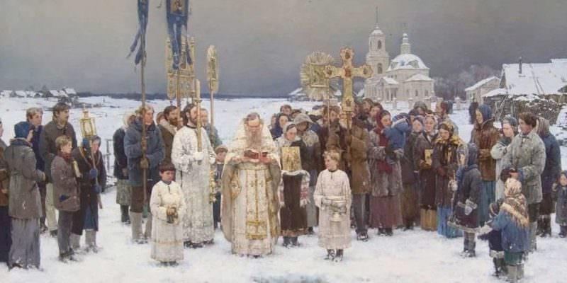 богоявление россия зима