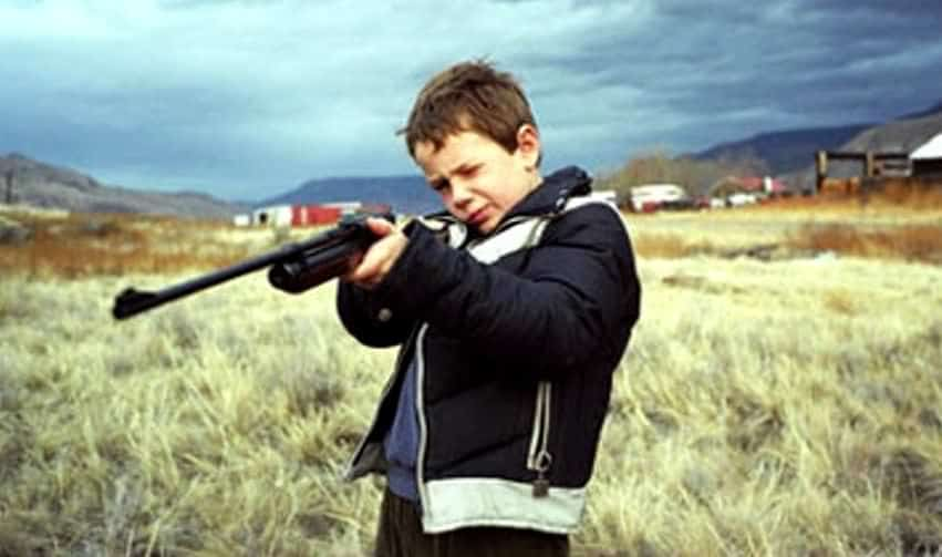 мальчик с ружьем