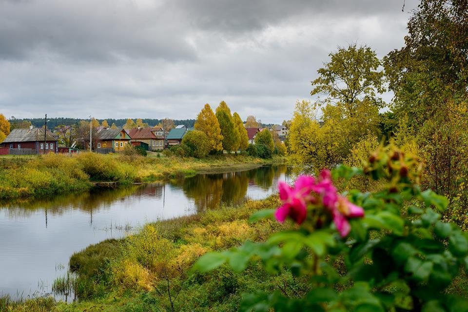 деревня осень