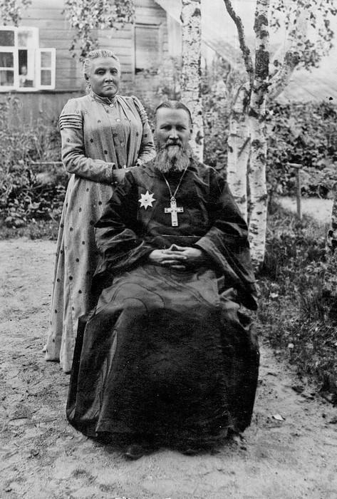 Святой Иоанн Кронштадский с супругой