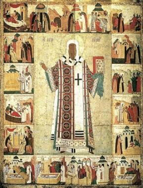 Святитель Алексий с житием, автор — Дионисий 1480-е годы