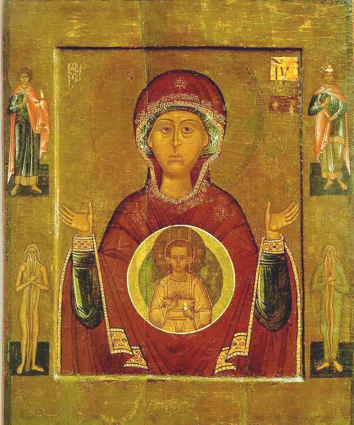 Икона «Знамение» Новгородская