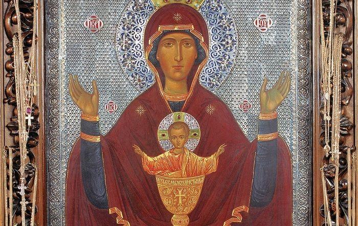"""Икона Богородицы """"Неупиваемая Чаша"""""""
