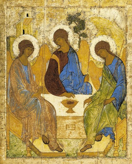 Икона Святой Троицы преподобного Андрея Рублева