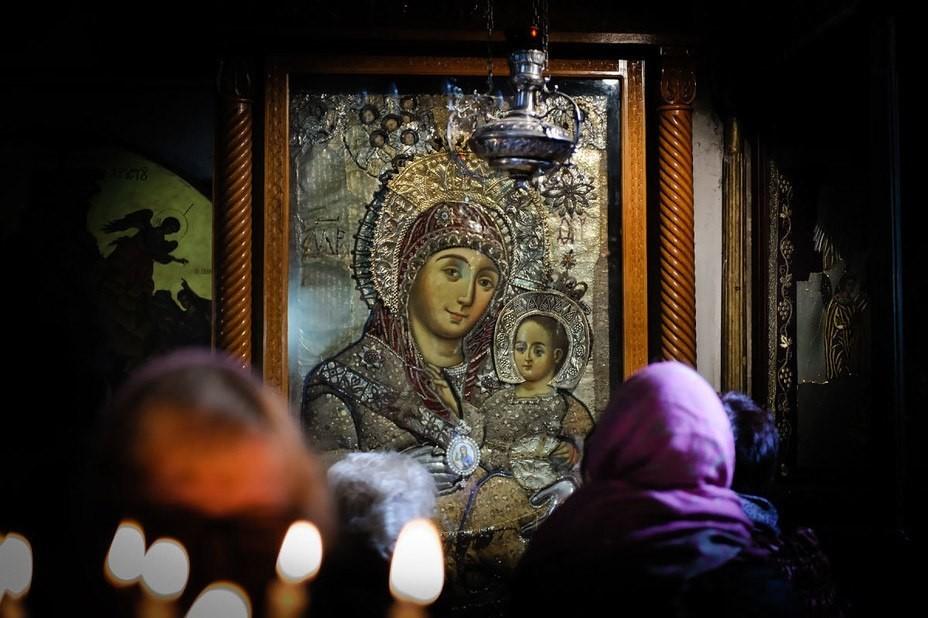 Вифлеемская икона Божией Матери в Храме Рождества