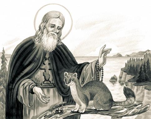 святые и животные
